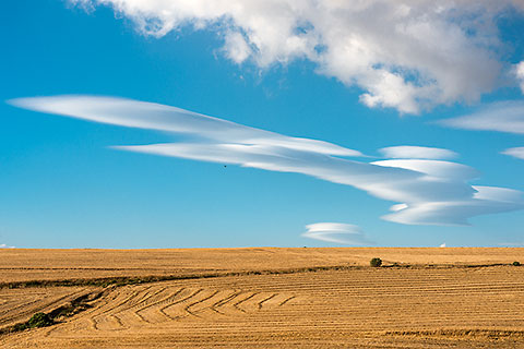 ufo clouds over wheat fields [©2014 paulgodard.com]